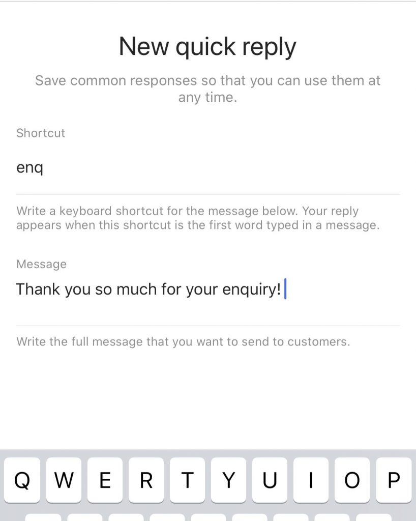 Quick Replies Instagram Boundaries